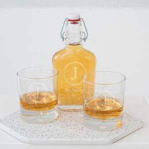 Whisky beugelfles infinity gepersonaliseerd