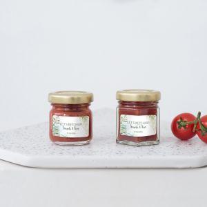 Ketchuppotje trouwbedankje geometric botanical