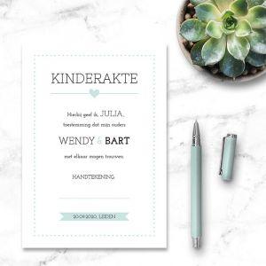 kinder trouwakte Lovely Lettertypes