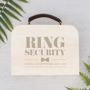 Gepersonaliseerd koffertje ring security modern