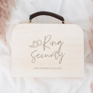 Gepersonaliseerd koffertje ring security wedding rings