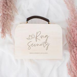 Gepersonaliseerd koffertje ring security wedding rings