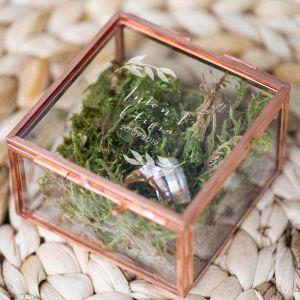 Ringdoosje glas vierkant lovely eucalyptus