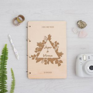 Houten gastenboek touch of nature