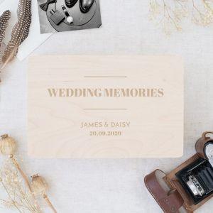 Houten wedding memorybox modern paper