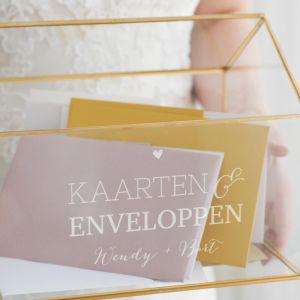 Glazen enveloppendoos huis lovely lettertypes namen