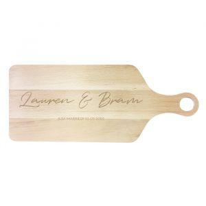 Houten serveerplank chique