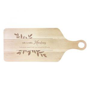 Houten serveerplank botanical mr & mrs