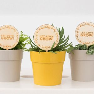 Plantenprikker standaard met krans (20 stuks)