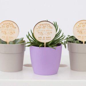 Plantenprikker love tree met namen