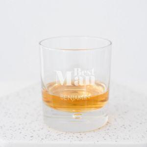 Whiskeyglas best man met naam