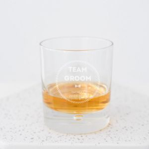 Whiskeyglas team groom gepersonaliseerd