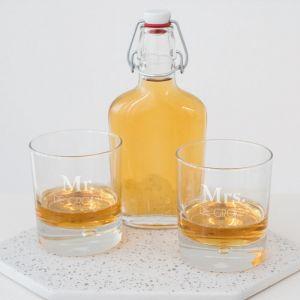 Whiskeyglas Mrs met achternaam