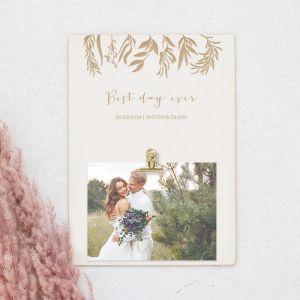 Houten foto clipboard gepersonaliseerd lovely eucalyptus