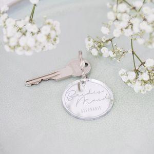 Sleutelhanger rond bridesmaid met naam