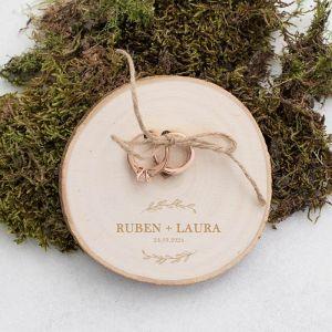 houten boomschijf ringplankje botanical met namen