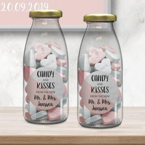 Melkflesje marmer pastel roze