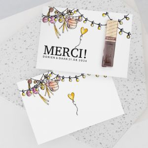 Merci trouwbedankje watercolor festivaL