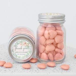 Mini mason jar botanical romance