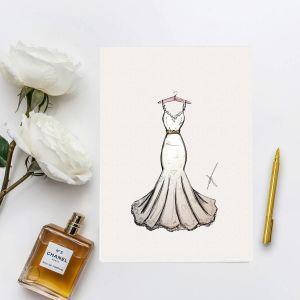 vPersoonlijke illustratie bruidskleding door Sophie de Ruiter