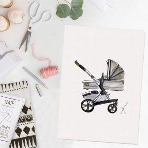 Persoonlijke illustratie kinderwagen Sophie de Ruiter