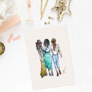 Persoonlijke vriendinnen illustratie Sophie de Ruiter