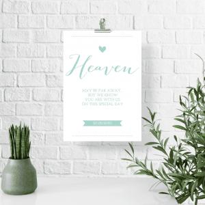 Poster heaven mintgroen lovely lettertypes