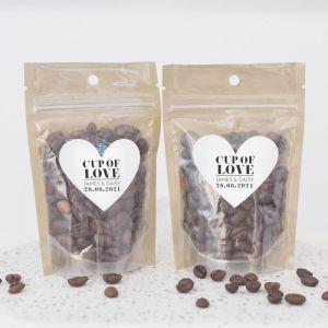 Zipperbag modern paper koffie etiket