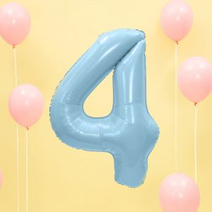 86cm Folieballon Pastel Blauw 4