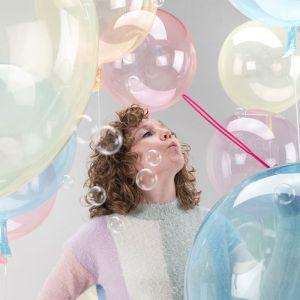 Orbz folieballon Clearz Crystal lichtroze (40cm)