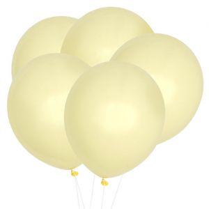 Pastel ballonnen geel (10st)