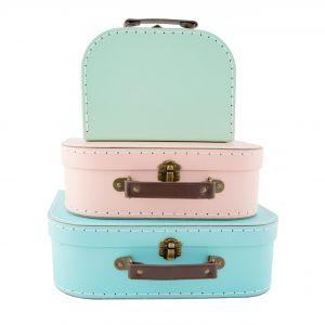 Pastel Kofferset (3st) Sass & Belle