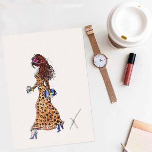 Persoonlijke fashion illustratie Sophie de Ruiter