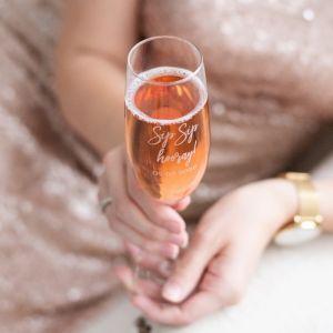 Champagneglas graveren met tekst