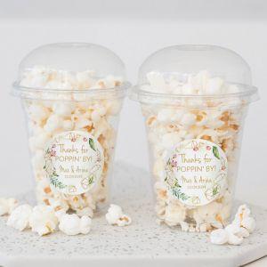 Popcorn beker geometric floral trouwbedankje