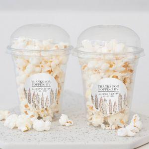 Popcorn beker pampas gras trouwbedankje