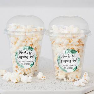 Popcorn beker tropische bladeren
