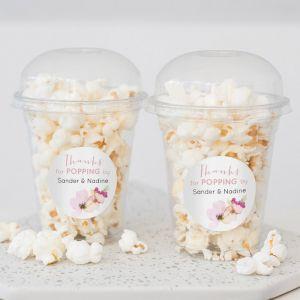 Popcorn beker waterverf bloemen
