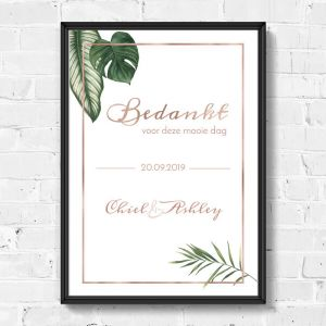 Poster bedankjes beautiful botanics