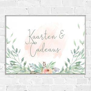 Bruiloft poster kaarten en cadeaus botanical romance