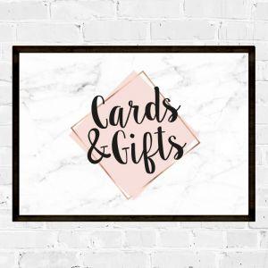Poster kaarten en cadeautjes marmer pastel roze