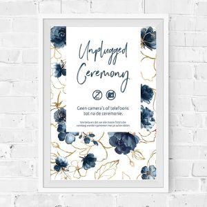Poster unplugged bruiloft Elegance Breeze