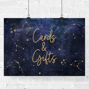 Bruiloft poster kaarten en cadeau galaxy