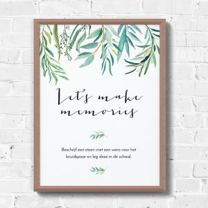 Poster gastenboek eucalyptus botanical