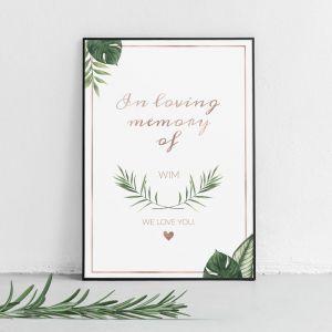Poster in loving memory beautiful botanics