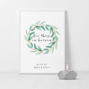 Poster for those in heaven lovely eucalyptus
