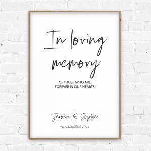 Poster in loving memory modern