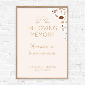 Poster in loving memory Rustic love