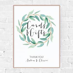 Poster kaarten en cadeaus eucalyptus botanical