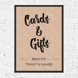 Poster kaarten en cadeaus kraft